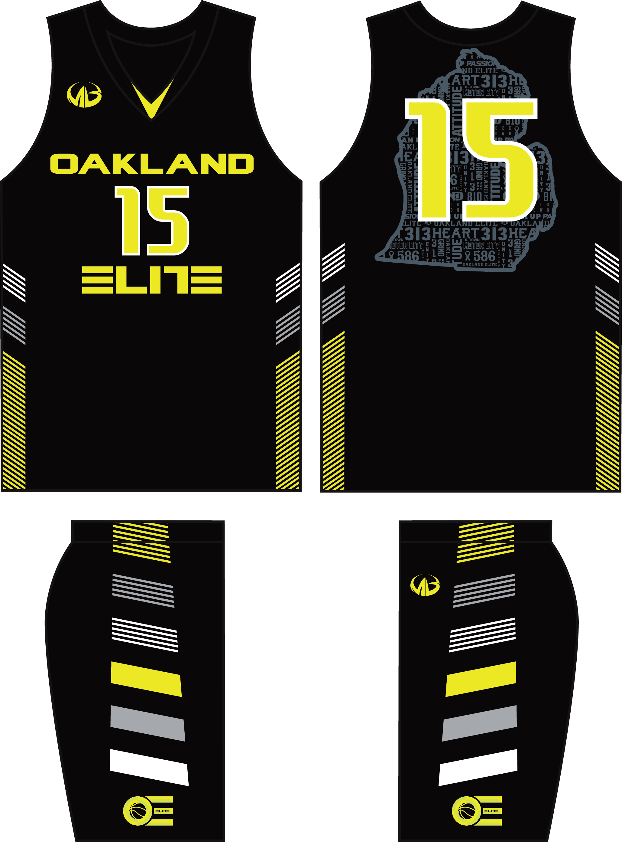 the latest a1086 858d5 Oakland Elite - Black Game Uniforms