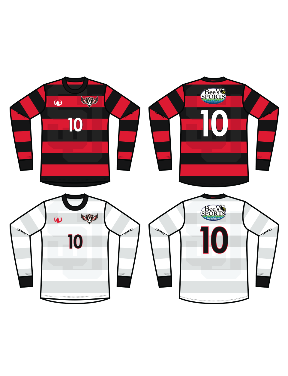 St Johns Soccer Club - LS Jersey Tops Only